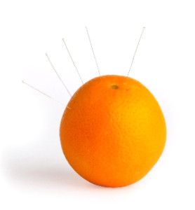 Acupuncture in Orange Peel